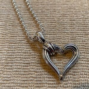 LAGOS Open Fluted Heart Pendant Necklace